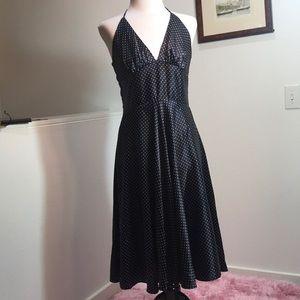 Alynpaige Black and white polka dot halter dress